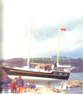 Tigress of Deben launch day 17th April 1973.